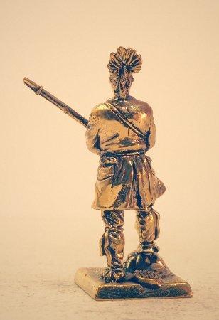 5.Ирокез во французском мундире с мушкетом.