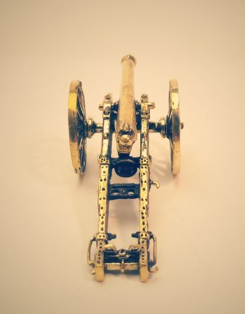 12 фунтовое полевое орудие образца 1838г. на лафете образца 1845г.