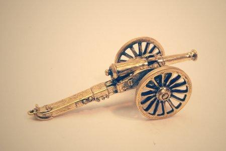 Французское 6-ти фунтовое полевое орудие системы Де Вали, на лафете 1854 года