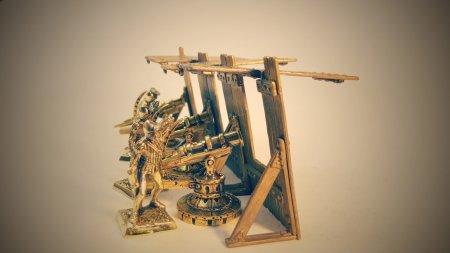 Применение артиллерийского мантелета.